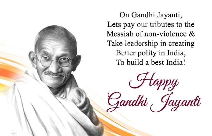 Happy Mahatma Gandhi Jayanti Wishes 10