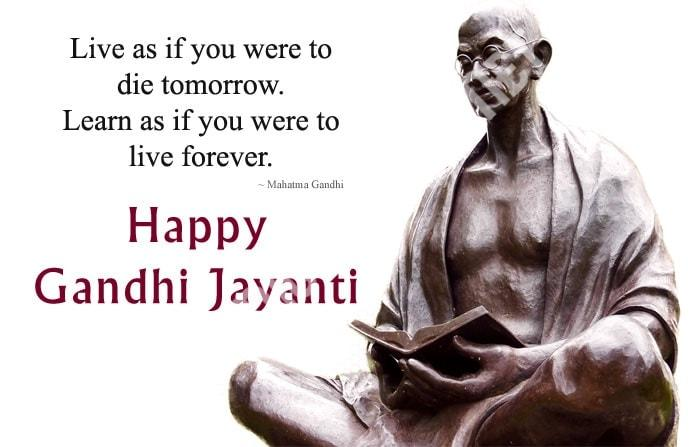 Happy Mahatma Gandhi Jayanti Wishes 9