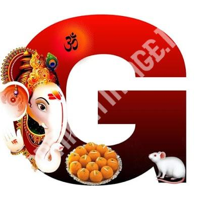 English Alphabets with Lord Ganesha Image